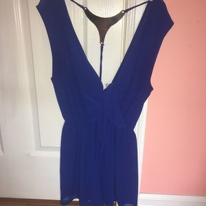 Royal Blue Going Out Romper